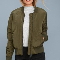 Air Force Hun Olive Green Bomber Jacket