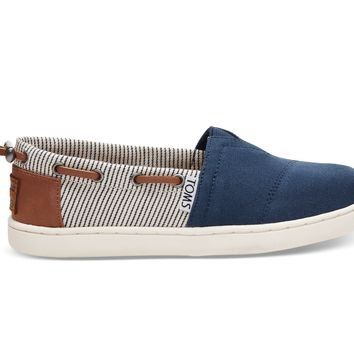 NAVY CANVAS STRIPES YOUTH BIMINIS