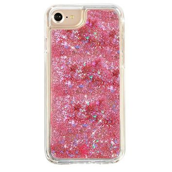 Pink Holographic Glitter Dual Iphone Case