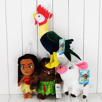 Princess Moana Tui & Sina Tala Kakamora Maui Tamatoa Pua Heihei stuffed plush toy pendant with sucker free shipping