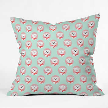 Allyson Johnson Polar Bears Throw Pillow