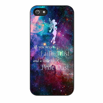 tinkerbell flying galaxy quote cases for iphone se 5 5s 5c 4 4s 6 6s plus