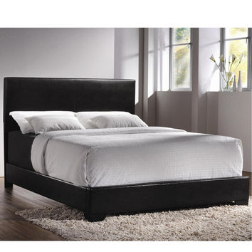 Contemporary Upholstered Low-Profile Bed Frame