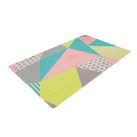 "Louise Machado ""Geometric Pastel"" Woven Area Rug"