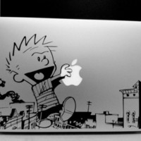 Calvin & Hobbes Macbook Vinyl Decal Giant Ramapge