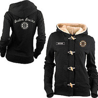 Old Time Hockey Boston Bruins Women's Inna Toggle Hoodie