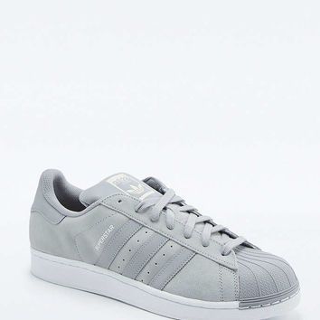 adidas Originals Superstar Grey and White Suede Trainers - Urban Outfitters