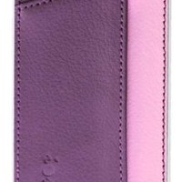 "Ionic IMPRESSION Slim Dual Pocket Leather Case Cover for ""The new iPhone"" new Apple iPhone 5 Apple iPhone 5S (AT&T, T-Mobile, Sprint, Verizon) (Pink/Purple)[Doesn't fit iPhone 4/ iPhone 4S]"