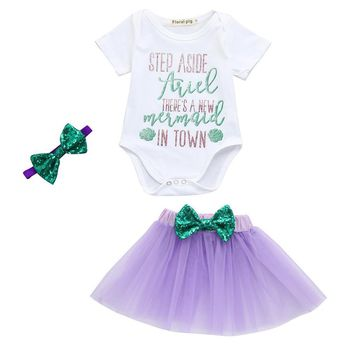 Step Aside Ariel. There's a New Mermaid In Town Infant Baby Girls Outfit