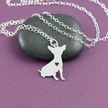 SALE - Chihuahua Necklace - Custom Dog Necklace - Dog Jewelry - Pet Jewelry - Personalized Pets - Dog Memorial Gift - Family Pet - New Puppy