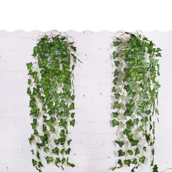 Wall-mounted artificial plant rattan vine