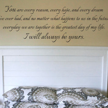 Wall Vinyl Quote  I Will Always Be Yours Quote from by aubreyheath