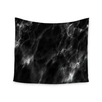 "Chelsea Victoria ""Black Marble"" Modern White Wall Tapestry"