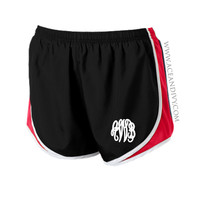 Monogrammed Running Shorts - Red