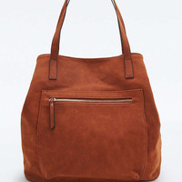 Rust Vegan Suede Traveller Tote Bag - Urban Outfitters