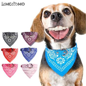 Adjustable Printed Soft Collar For Dog Pet Supplies Cat Dog Bandana Scarf Collars For Chihuahua Teddy Puppy Pet Neckerchief