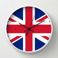UK FLAG - The Union Jack Authentic color and 3:5 scale  Wall Clock by LonestarDesigns2020 - Flags Designs +