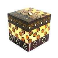 Hand-Painted Cube Candle - Uzima Design - Nobunto