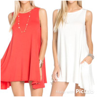 Great Basic Pocket Sleeveless Dress