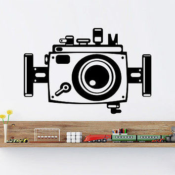 Wall Decals Camera Photo Technique Decal Living Room Vinyl Sticker Decor Art DA1