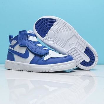 Air Jordan 1 White Blue Toddler Kids Shoes - Best Deal Online