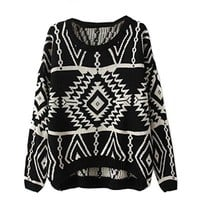 Ninimour- Women's Autumn Knitted Sweater Loose Pullover Outwear