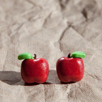Red Apple Stud Earrings from SweetSugaRush