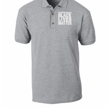 black lives matter embroidery hat - Polo Shirt