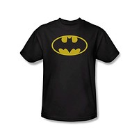 Classic Batman Shield Logo Mens T-Shirt