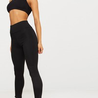 Black Second Skin Hightwaisted Ponte Seamed Legging