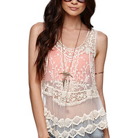 Kirra Lace Crochet Tank at PacSun.com