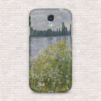Banks of the Seine by Claude Monet phone case - art collection - Samsung Galaxy S4, S5, S6, OnePlus One, OnePlus X, OnePlus 2, iPhone case