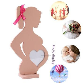 Pregnant Heart Wooden Photo Frames