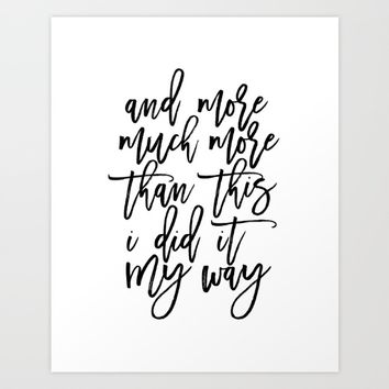 PRINTABLE Art,Frank Quote,Inspirational Quote,Hand Lettering,Canvas Print,Typography Print Art Print by Printable Aleks
