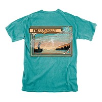Fishing Net T-Shirt in Seafoam by Fripp & Folly - FINAL SALE