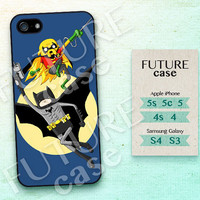 Adventure Time iPhone 5 case Batman and Robin iphone 5s case Finn and Jake iPhone 5c case iphone case iphone 4s case Hard or Soft Case -AT05