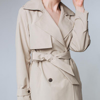 Beige Trench Coat Beige Outwear