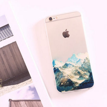 Nice Mountains Silicone iPhone 5s 6 6s Plus Case Cover Gift-113