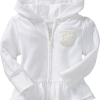 Old Navy Eyelet Trim Hoodies For Baby Size 5T - Calla lilly