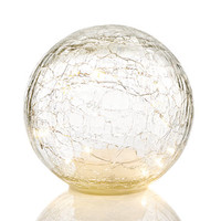 Holiday Lane 15cm Light-Up LED Glass Sphere, Created for Macy's | macys.com