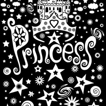 "Color-In Velvet Poster 16""X20""-Princess"