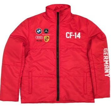 ONETOW Club Foreign German Bubble Jacket In Red