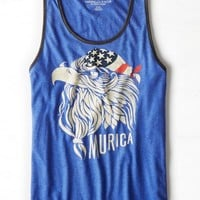 AEO Men's murica Graphic Tank (Cobalt Night)