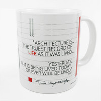 "Frank Lloyd Wright ""Architecture Is"" Quote Coffee Mug"