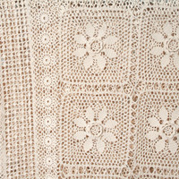 Crochet Bedspread for Twin Bed in Antique White