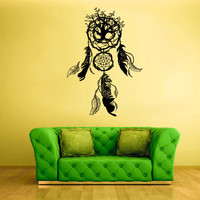 Wall Decal Vinyl Sticker Decals Dream Catcher Tree Foliage Dreamcatcher Bedroom (z1573)