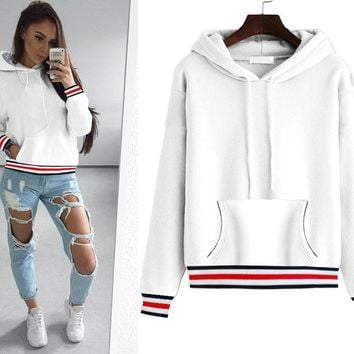 Pocket Blank Hoody with Colorful Trim