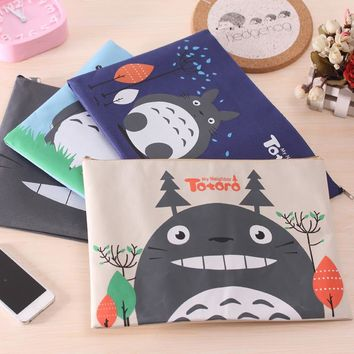 1Pc Kawaii Cartoon Totoro Oxford File Folder Document Filing Bag Stationery Bag Promotional Gift Stationery 33.5*23.5cm