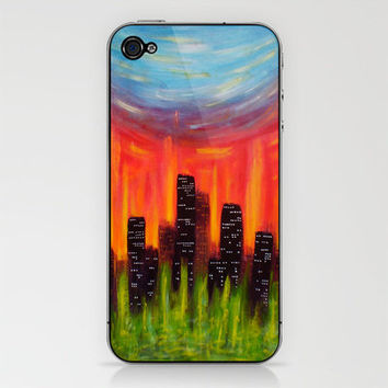 City Of Fire iPhone & iPod Skin by Morgan Ralston | Society6