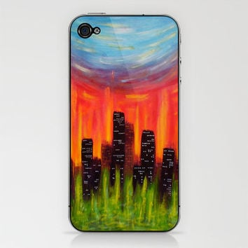 City Of Fire iPhone & iPod Skin by Morgan Ralston   Society6